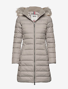 TJW ESSENTIAL HOODED DOWN COAT - MOURNING DOVE