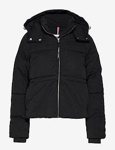 TJW TOMMY DETAIL PUFFA JACKET - jackets & coats - tommy black