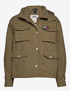TJW PLEAT DETAIL SLEEVE JACKET - MARTINI OLIVE