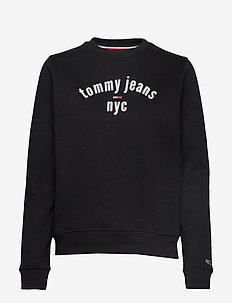 TJW ESSENTIAL LOGO SWEATSHIRT - TOMMY BLACK