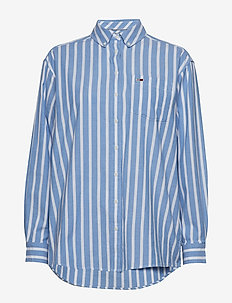 TJW WASHED MULTISTRIPE SHIRT - SERENITY / CLASSIC WHITE