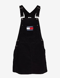 TJW DUNGAREE DRESS - TOMMY BLACK