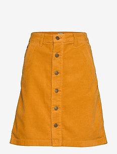 TJW A LINE CORDUROY SKIRT - midi skirts - inca gold