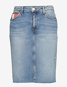 TJW DENIM LONG SKIRT MAIA TJAMR - jeansrokken - tj america mid bl co