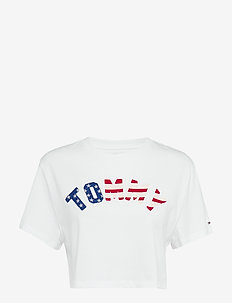 TJW TOMMY US FLAG TE - hauts courts - classic white