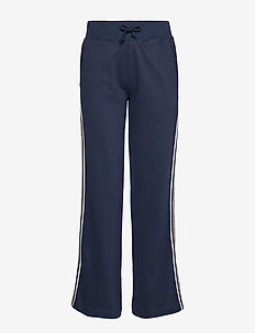 TJW TAPING DETAIL JOG PANT - wide leg trousers - black iris
