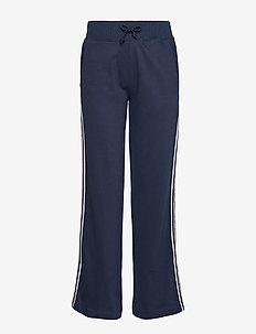 TJW TAPING DETAIL JOG PANT - bukser med brede ben - black iris