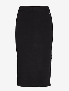 TJW TAPE DETAIL SKIRT - TOMMY BLACK