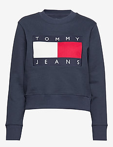 TJW TOMMY FLAG CREW - sweatshirts - black iris
