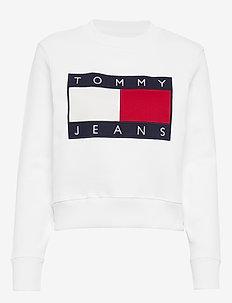 TJW TOMMY FLAG CREW - CLASSIC WHITE
