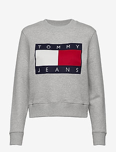 TJW TOMMY FLAG CREW - sweaters - lt grey htr