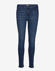 NORA MID RISE SKINNY CRPSD - CROPSEY DK BL STR