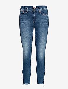 NORA MID RISE SKNY ANKL ZIP  MNM - skinny jeans - maine mid bl str