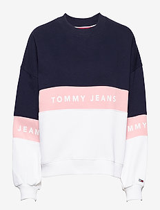 TJW COLORBLOCK CREW - sweatshirts - classic white / multi