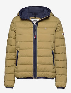 TJW QUILTED TAPE DETAIL JACKET - martini olive