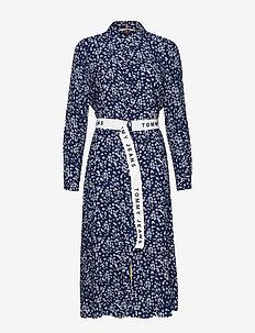 TJW PRINT MIX SHIRT DRESS - SCATTERED FLORAL / BLUE DEPTHS