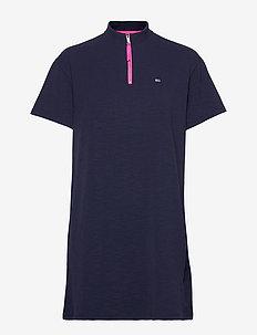 TJW ZIP DETAIL DRESS - BLACK IRIS