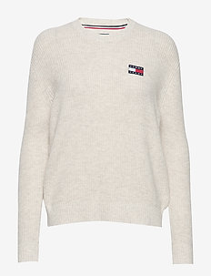 TJW TOMMY BADGE SWEATER - OATMEAL HTR
