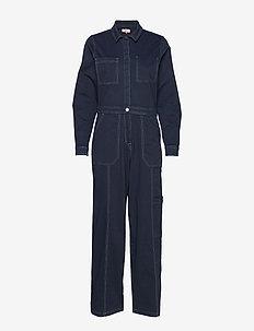 TJW REGULAR JUMPSUIT BLKC - jumpsuits - black iris com