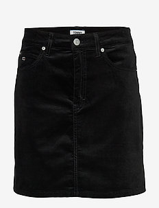 TJW SHORT VELVET SKIRT - jeansrokken - tommy black