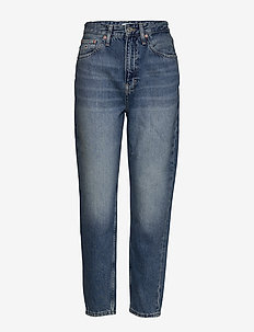 MOM JEAN HIGH RISE TAPERED SNDM - mom-jeans - sunday mid bl rig