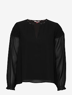 TJW ESSENTIAL SMOCK BLOUSE - TOMMY BLACK