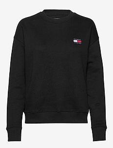 TJW TOMMY BADGE CREW - sweatshirts & hoodies - black