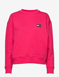 TJW TOMMY BADGE CREW - sweatshirts - blush red