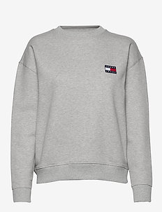 TJW TOMMY BADGE CREW - sweatshirts - lt grey htr