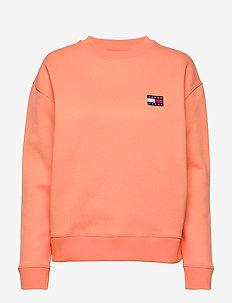 TJW TOMMY BADGE CREW - sweaters - melon orange