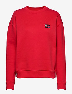 TJW TOMMY BADGE CREW - sweatshirts - racing red