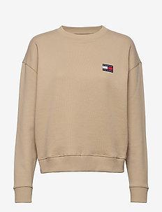TJW TOMMY BADGE CREW - sweaters - silt