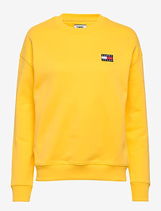 TJW TOMMY BADGE CREW - sweatshirts - star fruit yellow