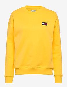 TJW TOMMY BADGE CREW - sweaters - star fruit yellow