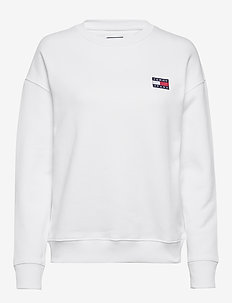 TJW TOMMY BADGE CREW - sweatshirts - white
