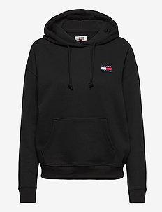 TJW TOMMY BADGE HOODIE - sweatshirts & hoodies - black
