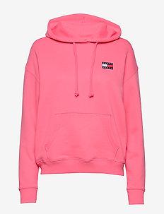 TJW TOMMY BADGE HOODIE - hættetrøjer - glamour pink