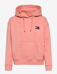TJW TOMMY BADGE HOODIE - hoodies - pink icing