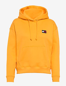 TJW TOMMY BADGE HOODIE - hættetrøjer - spectra yellow