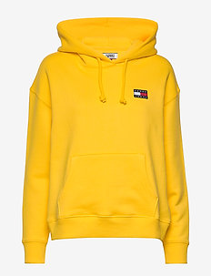 TJW TOMMY BADGE HOODIE - hættetrøjer - star fruit yellow
