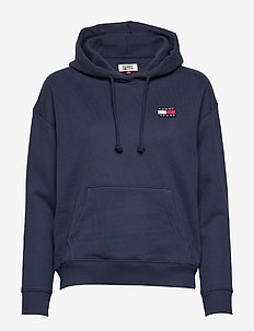 TJW TOMMY BADGE HOODIE - hættetrøjer - twilight navy