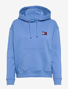 TJW TOMMY BADGE HOODIE - hoodies - ultramarine