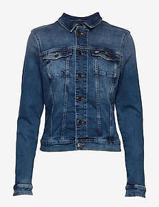 SLIM TRUCKER VIVIAN MNM - denim jackets - maine mid bl str