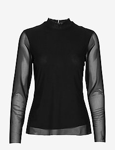 TJW SOLID MESH TOP - TOMMY BLACK