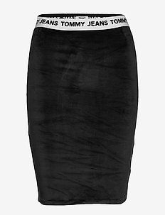 TJW VELVET BODYCON SKIRT - TOMMY BLACK