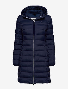 TJW BASIC QUILTED HOODED COAT - padded coats - black iris