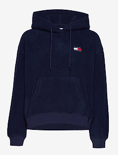 TJW TOMMY POLAR FLEECE HOODIE - BLACK IRIS