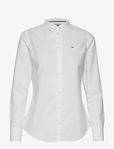 TJW SLIM FIT OXFORD SHIRT - long-sleeved shirts - white