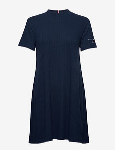 TJW RIB TEE DRESS - short dresses - twilight navy