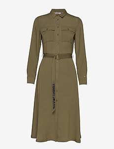 TJW MIDI SHIRT DRESS - shirt dresses - olive tree